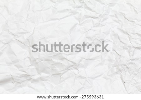 White creased paper background texture. White paper sheet.