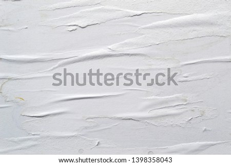 White creased poster texture. Abstract background. #1398358043