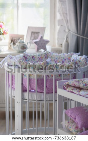 white cribs for babies  round...