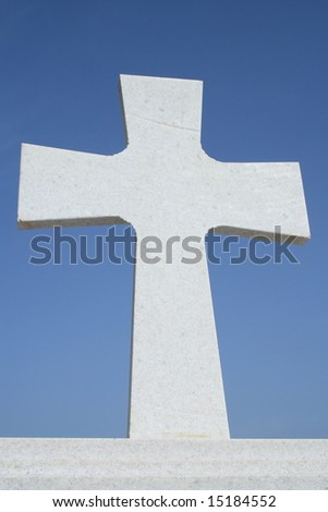 White cross at the top of greek church