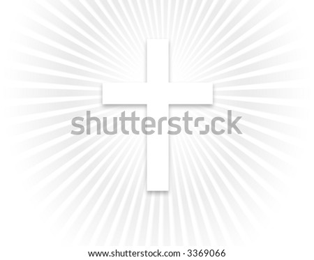 White cross background with a smaller cross