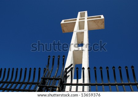 White cross; Mount Soledad Memorial; San Diego, California