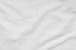 White Crumpled Fabric Texture, Background