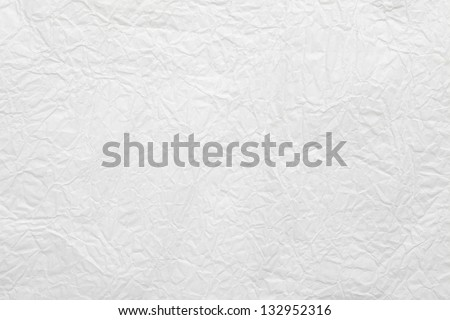 white crumpled paper background or rough texture