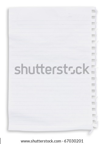 white crumpled paper isolated on white background