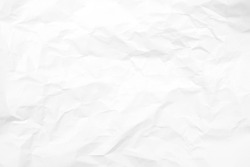 white crumpled paper texture , abstract crease paper for background.