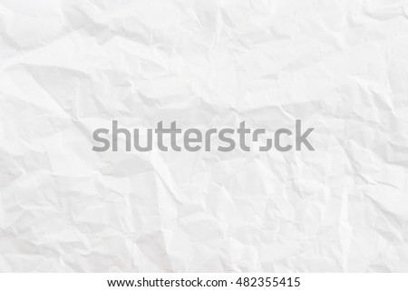 white crumpled paper texture background.