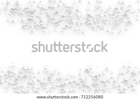 White cube abstract geometrical background.3d illustration and rendering. #712256080