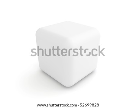 white cube with rounded corners