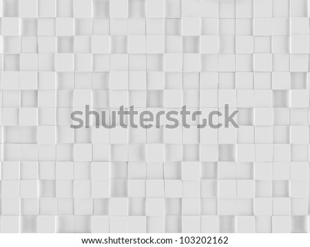 White cubes background - stock photo