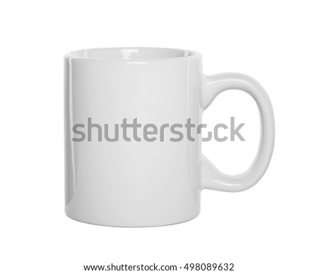 White cup isolated on white background. #498089632