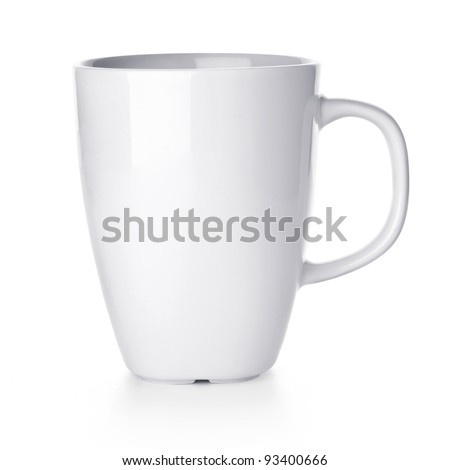 White cup isolated on white background #93400666