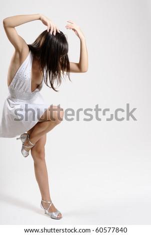 white dancer practicing