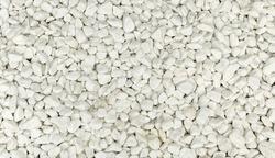 White decorative stones interior decoration.