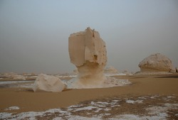 White desert landscape in Egypt