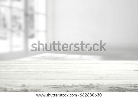 white desk space