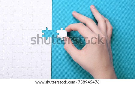 white details of puzzle on...