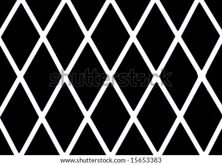 White diamond shaped grate or fence good for background