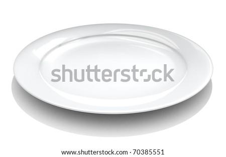 White Dish - stock photo