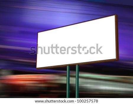 white display advertising at night