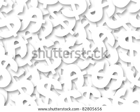 White dollar sign seamless background - texture pattern for continuous replicate.