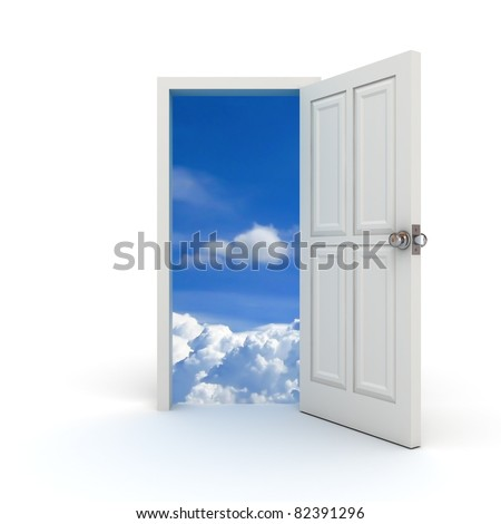 White door to the sky