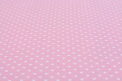 White dot pink background tablecloth