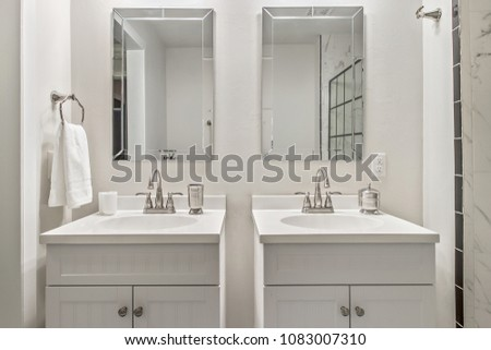 White Double Bathroom Sinks Updated