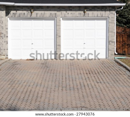 White double garage