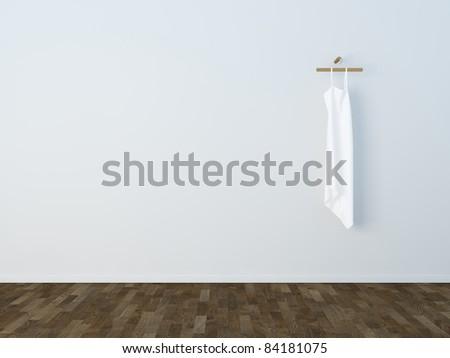 white dress - stock photo