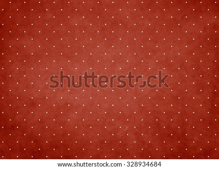 White drop on red background.
