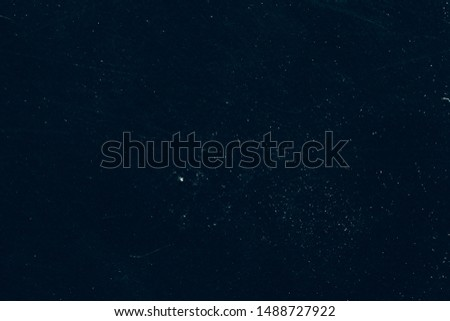 White dust and scratches on black abstract background. Creative photo editor layer.