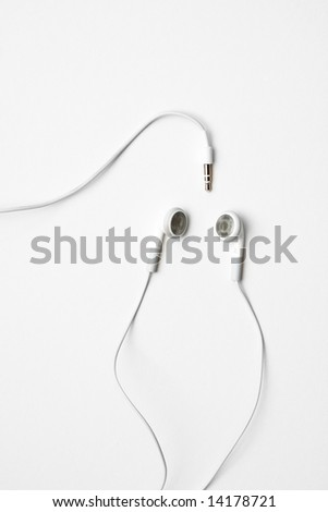 white ear phones