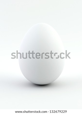 White egg isolated