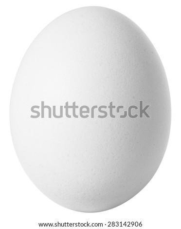 White egg isolated on white background with clipping path included. Сток-фото ©