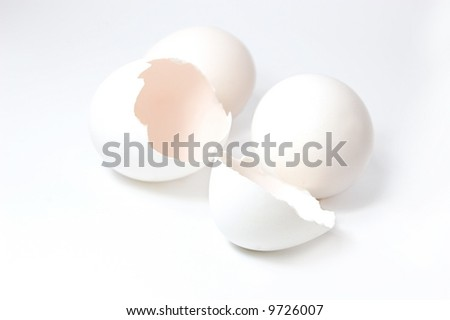 white eggs, cracked and whole