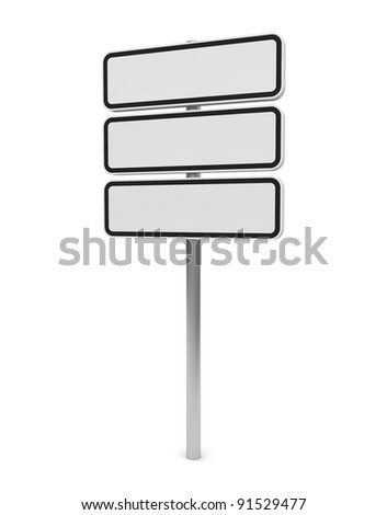 White Empty Billboard/Guide sign 3