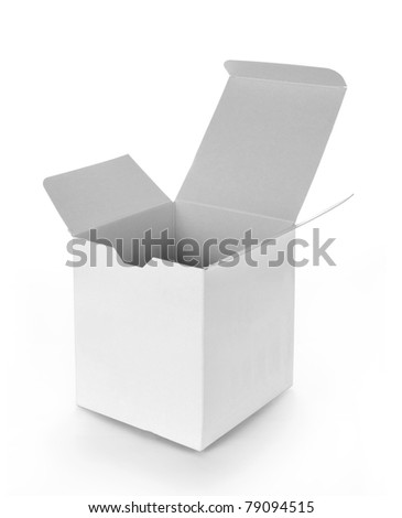 white empty box isolated on white background