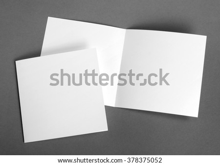 White empty cards on grey to replace your design #378375052