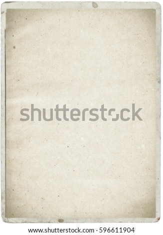 white empty old vintage paper background. Paper texture - Shutterstock ID 596611904