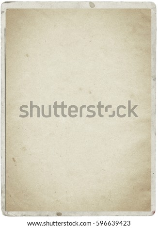 white empty old vintage paper background. Paper texture - Shutterstock ID 596639423