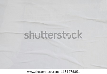 white empty paste up poster  #1151976851