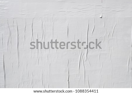white empty poster background
