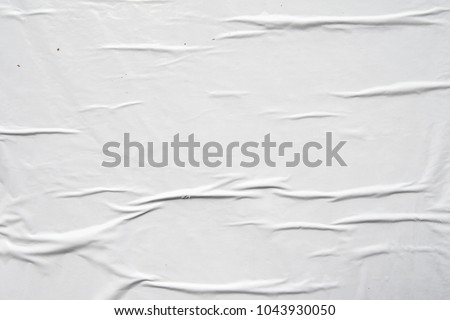 white empty weathered urban billboard poster