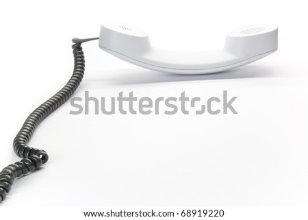 White enterprise desktop phone