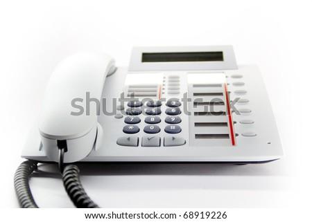 White enterprise desktop phone