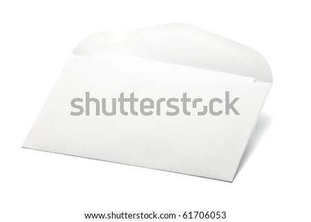 white envelope - stock photo