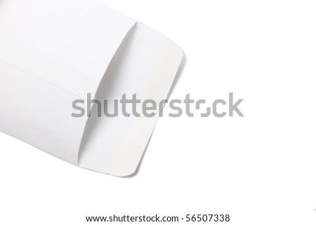 white envelope empty isolated