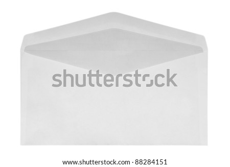 White Envelope isolated on white with a clipping path