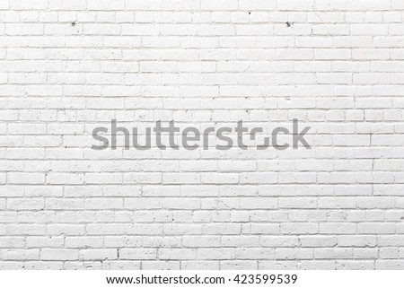 White Exterior Brick Wall #423599539